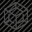 cube, element, four, shape, geometry, grid, form