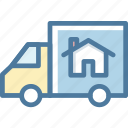 accomodation, moving, relocation, van icon