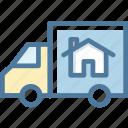 accomodation, moving, relocation, van