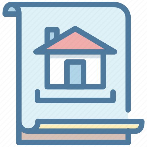 building, contract, document, files, house, projects, property icon