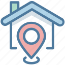 address, buy, house, property, selection icon