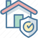 buy, house, property, protection, secure icon