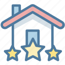 achievement, award, house, medal icon