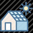 eco, ecology, environment, house, panel, solar