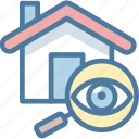 house, property, search, seo icon