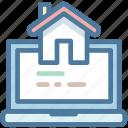 laptop, real estate, webpage, website