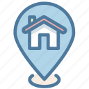 address, house, location, pin, property icon