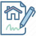contract, property, rent, sign icon