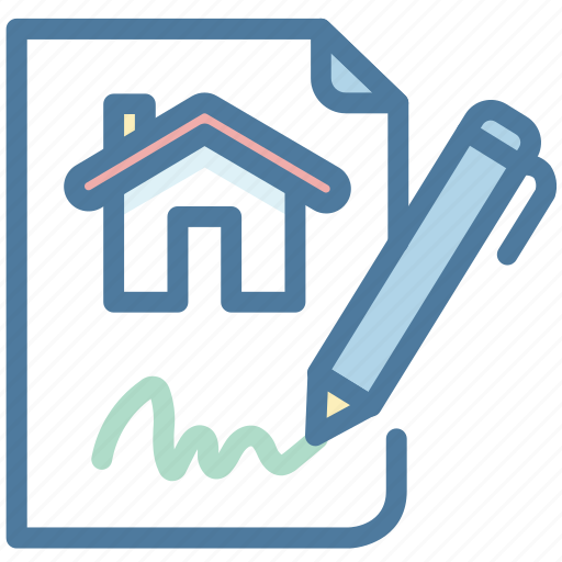 Contract, property, rent, sign icon - Download on Iconfinder