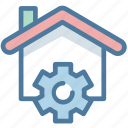 gear, house, options, property, real estate, setting, smart home
