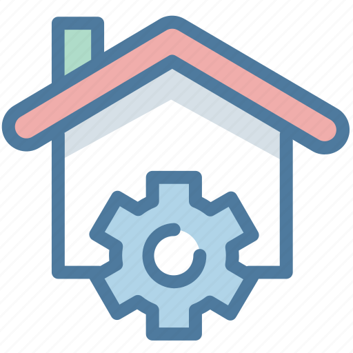 gear, house, options, property, real estate, setting, smart home icon