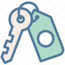 house, key, real estate, security icon