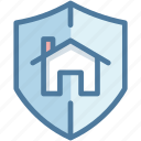house, protection, safety, security, shield icon