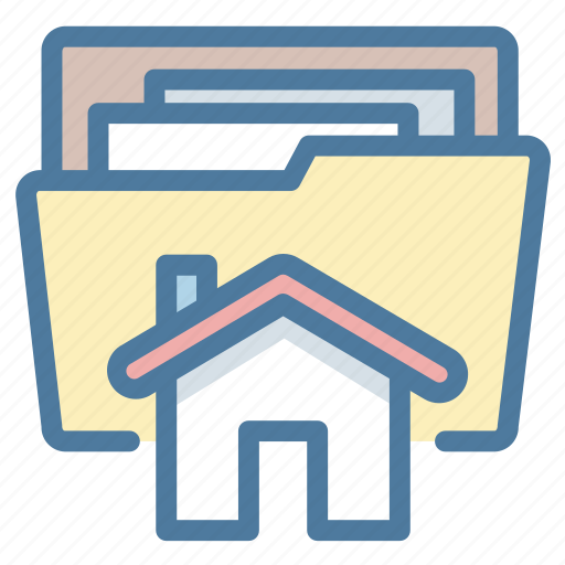 document, file, folder, house, project icon