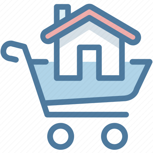 buy, cart, house, shopping icon