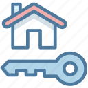 home, house, key, property, real estate icon