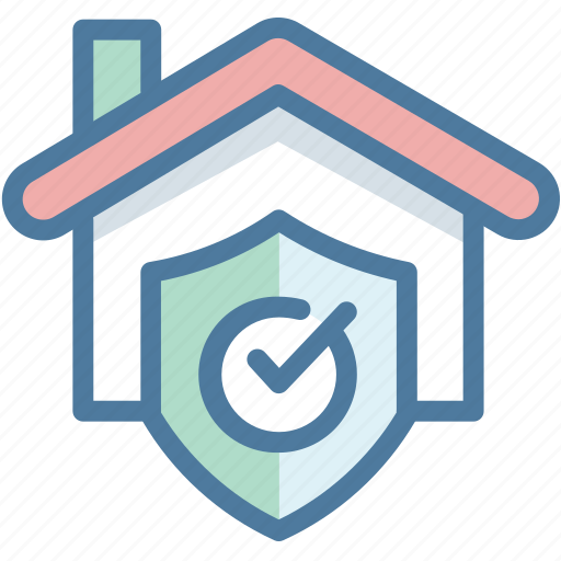house, protection, real estate, safety, security, shield icon