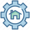 gear, house, settings, smart home