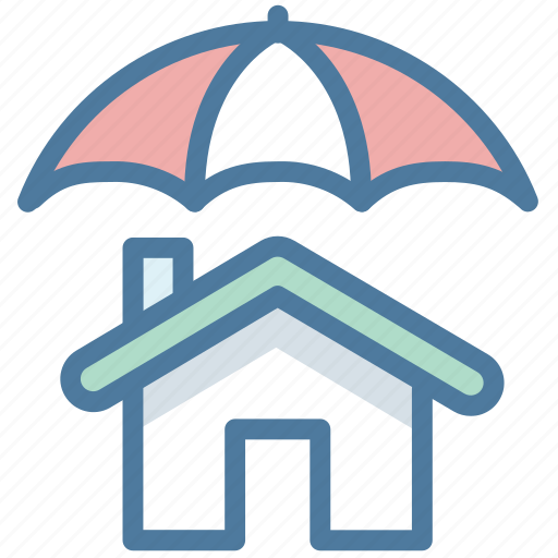 Home insurance, house, protection, safe, shield, umbrella icon - Download on Iconfinder