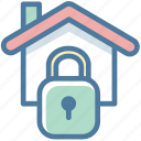 buy, house, property, protection icon