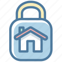 house, lock, protection, safety, secure icon