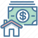 buy, house, price, property icon