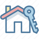 house, key, secure