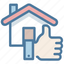 feedback, good, house, like, property, thumb up