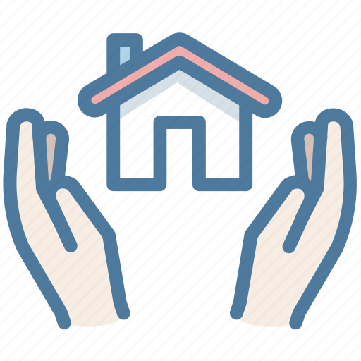 hands, house, insurance, protection, security icon