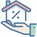 discount, percentage, promotion, property, sale icon