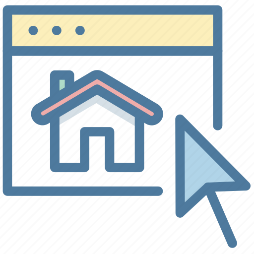 browser, choose, house, real estate, website icon