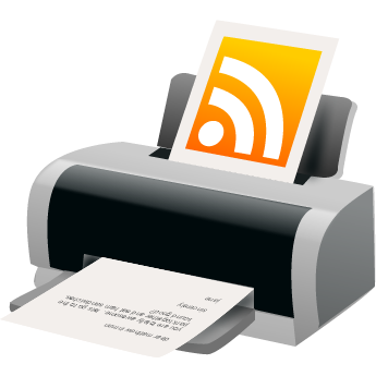 feed, printer, rss icon
