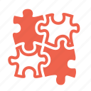 problem solving, puzzle, solution, strategy icon