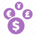 banking, currency, money convertion, revenues icon