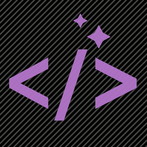clean code, coding, development, html icon