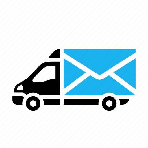 dilivery track, email, envelope, letter, message, post office, transport icon