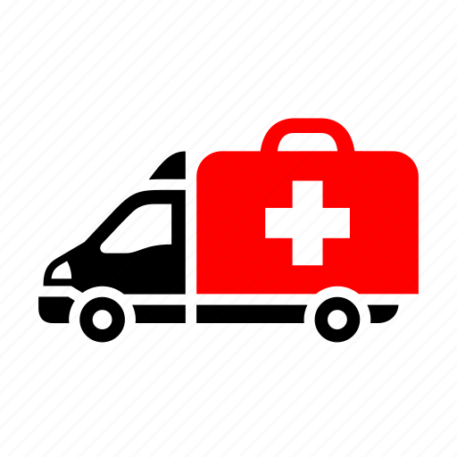ambulance, dilivery track, emergency service, first-aid, medical rescue, transport icon