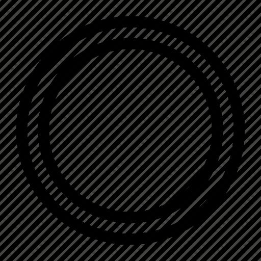 circle, dot, off, radio, radio button, unselected icon