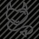 devil, heart, horn, tail, love, demon, valentine