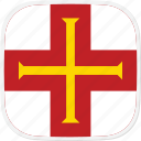 flag, gg, guernsey icon