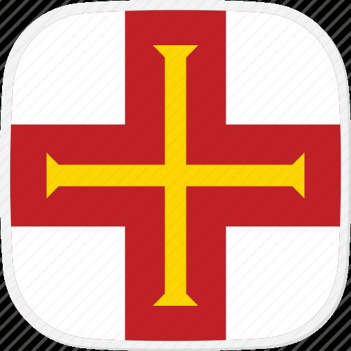 flag, gg, guernsey icon