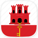 flag, gi, gibraltar icon