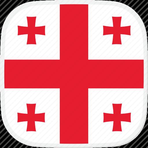 flag, ge, georgia icon