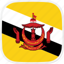 bn, brunei, flag icon
