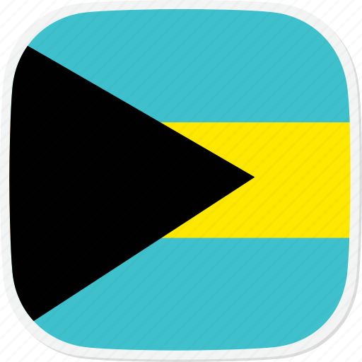 Bahamas, flag, the, bs icon