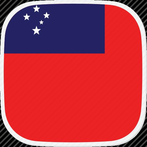 flag, samoa, ws icon