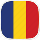 flag, ro, romania icon