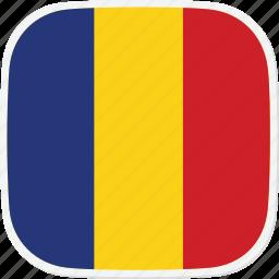 flag, ro, romania icon