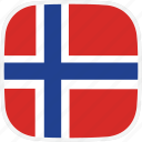 flag, no, norway icon