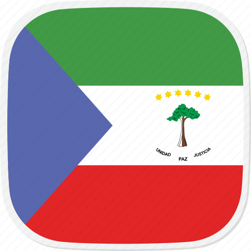 equatorial, flag, gq, guinea icon